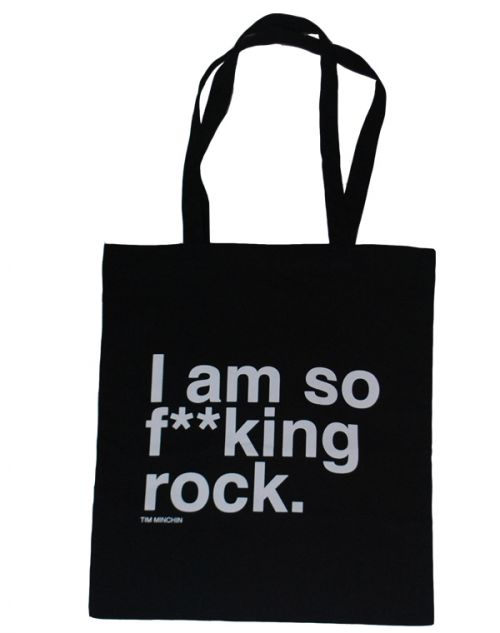 Totebag Black Australian Tour 2012 by Tim Minchin